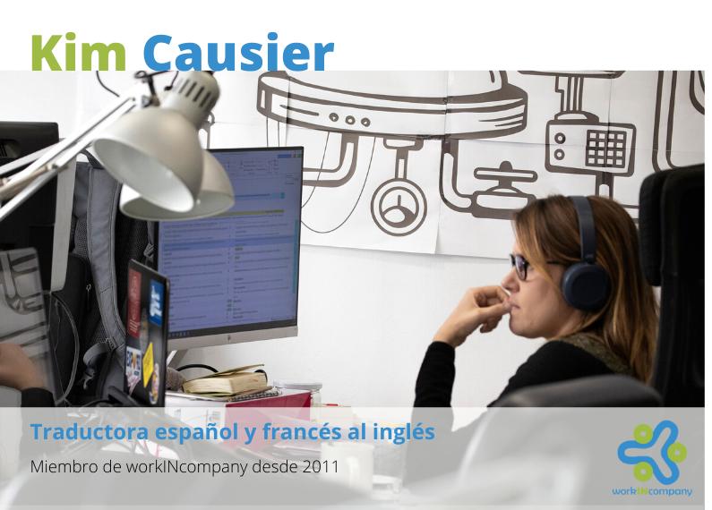 Entrevista a nuestros coworkers. Hoy Kim Causier.