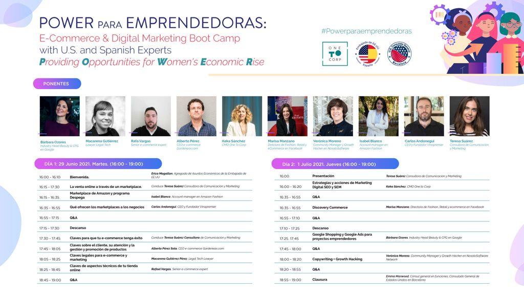 #POWERparaEMPRENDEDORAS, el programa sobre comercio electrónico y marketing digital finaliza con gran éxito de participación